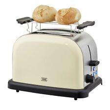Toaster Edelstahl 2 Scheiben Retro Creme Neu Mit Bräunungskontrolle Aufsatz