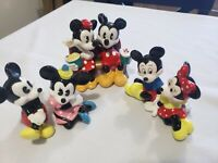 Vintage Disney Mickey and Minnie Mouse at the Movies Ceramic Figurine + Others