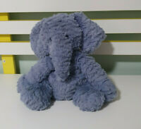 Jellycat Fuddlewuddle Elephant Soft Toy Baby Comforter Blue /PURPLE? 21CM SEATED