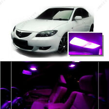 For Mazda 3 2003-2009 Pink LED Interior Kit + Pink License Light LED