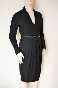MAX MARA, Wool Blend Dress in Black , Size 8 US, 10 GB, 38 DE, 42 IT