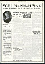 1919 Ernestine Schumann Heink photo opera singing recital tour booking trade ad
