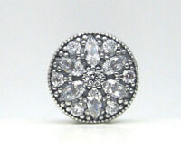 NEW Authentic Pandora Silver Charm Radiant Bloom, Clear CZ Bead 791762CZ