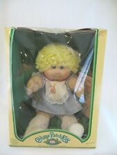 Cabbage Patch Kid Doll 1983 Coleco Blonde Hair - Box, Tag, Papers - Kt Factory