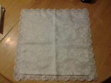 Vintage Silk Satin Cotton Cushion Cover Throw Pillow Case 17.5x17.5 lot of 3 wht