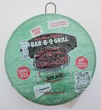 Vintage Marshallan Green Metal Portable Bar B Q Grill Bbq Sealed Original Ohio