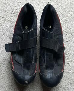 Nashbar Road Shoe Strap Closure BN - RS - Size 46 ( CYCLING  SHOE) - Black/ Red