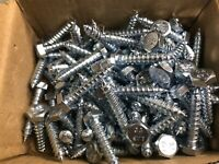 "100 PC 1/4"" x 1 - 1/4"" Zinc Lag Screws"