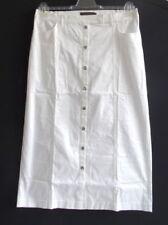 Gonne e minigonne da donna bianchi casual in misto cotone
