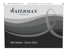 WATERMAN   INTENSE BLACK INK CARTRIDGES NEW IN BOX 1 BOX  8 CARTRIDGES