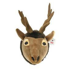 "Stuffed Animal House 11"" Elk Plush Head Walltoy Antlers Wall Mount Hunting NWT"