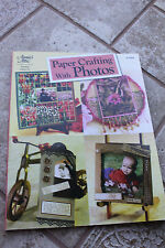 Paper Crafting With Photos, Vicki Blizzard softback scrapbooking crafts craft