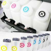 Continuous Bulk Ink System 4 Bottle 8 Cartridges for Roland FH-740/XF-640/XR-640