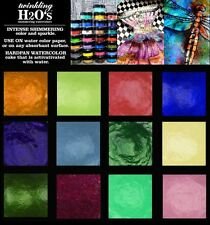12-pk ColourArte Twinkling H2O's KIT TW1263 Watercolor Paint - Rainforest