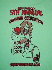Sean Patrick's Samhain Celebration Halloween  Sexy Zombie Pinup Girl T Shirt M