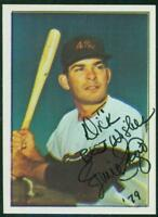 Original Autograph of Ernie Fazio of the Houston Colt .45's on a 1978 TCMA Card