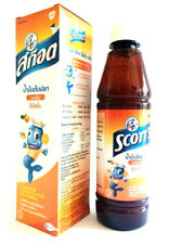 Original 200ml Original SCOTT'S Emulsion Cod Liver Oil Extra Orange Flavor