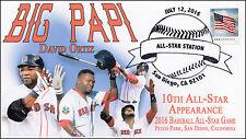 2016, Baseball All Star Game, San Diego CA, Big Papi, Pictorial Postmark, 16-253