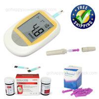 new Glucometer, meter blood glucose sugar monitor test meter test strip lancets