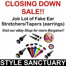 50 ACRYLIC FAKE TAPER EAR STUD STRETCHER FLESH PLUG EARRING PIERCING WHOLESALE