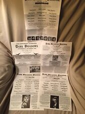 Dark Shadows Festival Flyers For 1991,1993,1994,1998,2000.