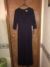 ALEX EVENINGS SIZE 6 PLUM FORMAL WEAR GOWN RUCHED SOLD BY NORDSTROM MSRP $219.00