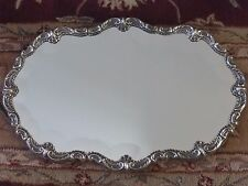 STERLING SILVER PERUVIAN ORNATE RECTANGULAR CENTERPIECE MIRROR TRAY BY CAMUSSO