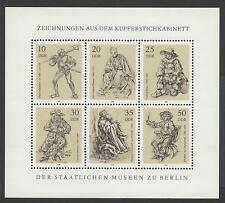 GERMANY - GERMANIA - DDR - 1978 - Disegni incisori su rame dei Musei di Berlino