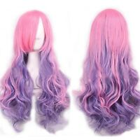 Fashion Womens Long Curly Wavy Lolita Cosplay Anime Full Wig Women Wigs