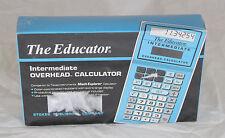 The Educator #204 Intermediate Overhead Calculator Emulates TI-12 NEW SEALED BOX