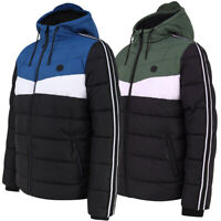 Dissident Mens Delmon Hooded Puffer Jacket Puffa Coat Padded Quilted Warm Winter