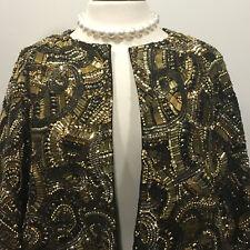 Dries Van Noten   HEAVY Gold Beaded/Embellished Wool Jacket - Size 38/6