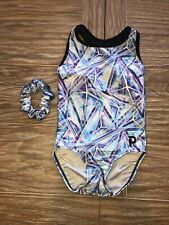 Plum Practicewear Gymnastics Leotard Icicles Racerback Mesh Size CM Child Medium