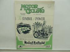 May 1953 MOTORCYCLING Magazine Royal Enfield Meteor 700 Velocette L8464