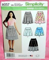 Uncut Simplicity Sz 6-14 Easy Full Gathered Yoke Skirt in 3 Lengths Pattern 8057