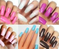 ~BUY2GET1FREE! 20pc False Nails Full Cover Ballerina Coffin French Tips Art USA!