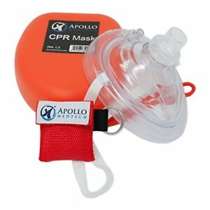 CPR Mask with One-Way Valve - First Aid Face Shield - With Bonus Pocket CPR Mask