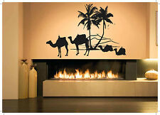 Wall Vinyl Sticker Room Decals Mural Design Africa Camels Palms Desert  bo1247