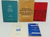5 Book Lot: EDUCATION AND UNIVERSITIES TUDOR HISTORY Renaissance Studies England