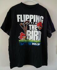 Men's Black Angry Birds T-Shirt Large L3