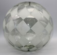 New listing Harlequin Pattern Frosted Glass Gazing Ball