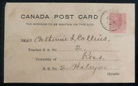 1919 Pembroke Canada Stationery postcard Cover Public School Inspection Office