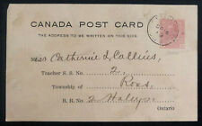 1919 Pembroke Canada Stationery postcard Cover Public School Inspection Office