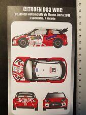 DECALS 1/24 CITROËN DS3 WRC  #20 - SERDERIDIS - RALLYE MONTE CARLO 2017 - DC2439