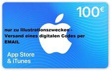 Apple App Store & iTunes 100 € Geschenkkarte Gutschein Guthaben Code