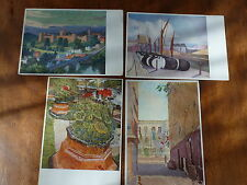 Lot01d 4x ART Postcards SOHO GALLERY Sickert NASH Wyndham SPENCER Artists