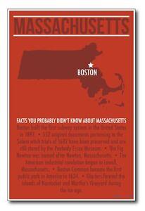 Massachusetts - NEW US Travel Poster