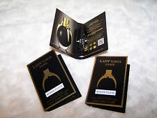 3 x COTY Lady Gaga Fame Black Fluid eau de parfum EDP .04 oz Perfume Samples NEW