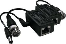 LTS BNC to RJ45 Video Balun with Power Connector, 1 Pair, Model: LTA1010