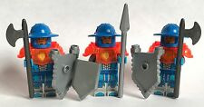 3 lego fantasy ROYAL KNIGHTS mini figures - parts from LEGO sets pirate GUARDS